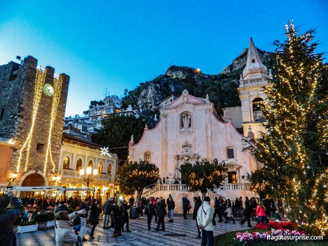 Praça do relógio, Taormina, Sicília
