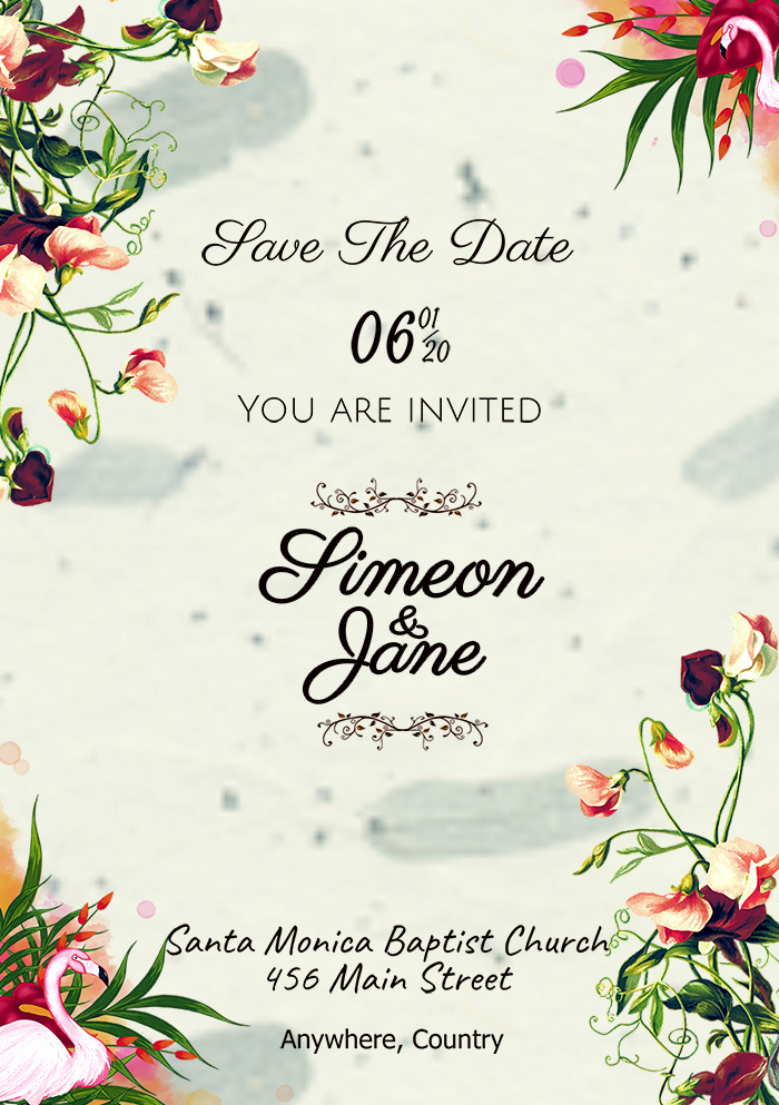 Classic Vintage Wedding Invitation Template