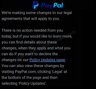 पेपाल प्राइवेसी पॉलिसी नही मानने पर करना होगा अकाउंट बंद - डिंपल धीमान Account will be closed for not accepting PayPal Privacy Policy - Dimple Dhiman