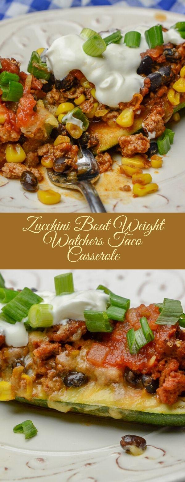 Zucchini Boat Weight Watchers Taco Casserole