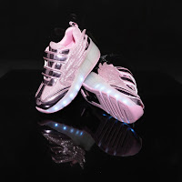 "Pink metallic + Angel wings + LED = the trendiest Sugar Kids ""ALL LIT UP"" shoe"