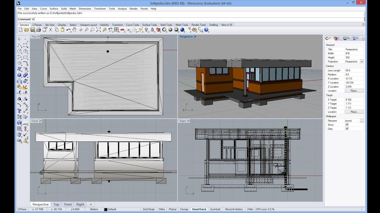 تحميل برنامج تصميم متطورلرسومات كمبيوتر وبرامج نمذجة ثلاثية الأبعاد Rhinoceros 6.24.20079.23341