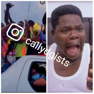 See Video Of Mr Macaroni Comedian Celebrating With Champion Boys In Traffic – VIDEO
