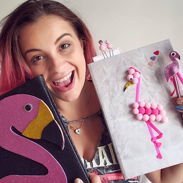 DIY - Volta às Aulas Personalizado de Flamingo
