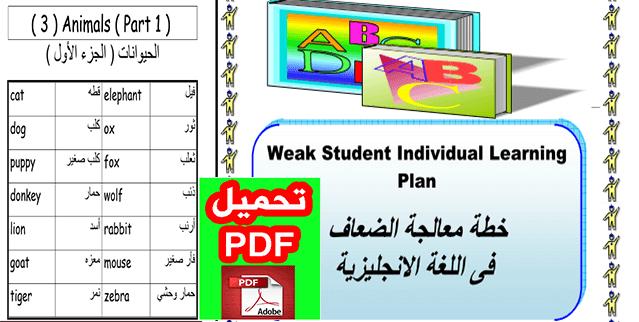 اقوي خطة علاجية للطلاب الضعاف فى اللغة الانجليزية PDF جاهزة للتحميل والطباعة