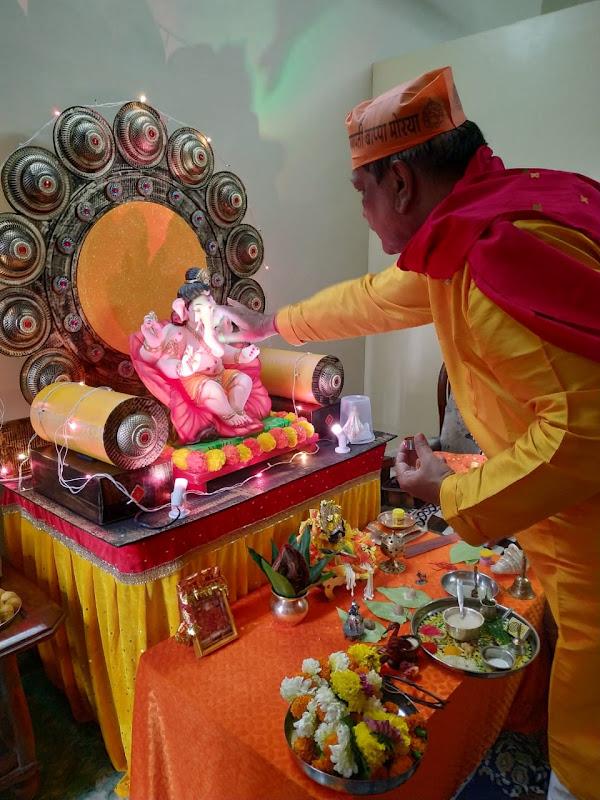 Ganesh Sthapana Ganesh Chaturthi Celebrations Mumbai