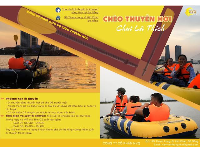 Chèo thuyền hơi trên sông Hàn Đà Nẵng