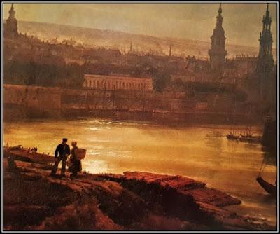 Πίνακας με τη νυχτερινή Βιέννη την εποχή του Μότσαρτ