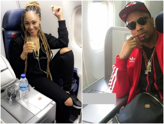 Alleged side chick, Rosaline Meurer's mysterious bae uncovered (Photos)