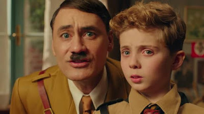 Taika Waititi as Hitler and Roman Griffin Davis as Jojo in Jojo Rabbit
