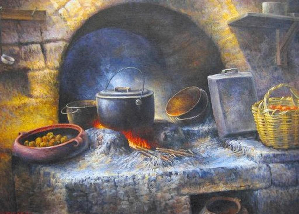 Im genes arte pinturas cocinas leo - Cocinas pintadas fotos ...
