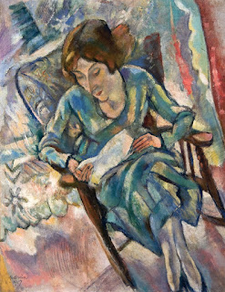 Jules Pascin's Girl in Green Reading