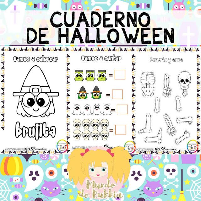 fichas-trabajar-halloween-preescolar Fichas para trabajar en Halloween para preescolar