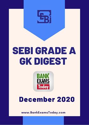 SEBI Grade A GK Digest: December 2020