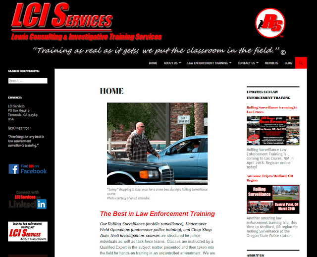 LCI Services Law Enforcement Training Website Design by Julianne of Bratiful Creative Solutions