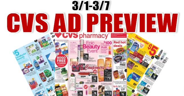 CVS Weekly Ad Preview 3-1-3-7