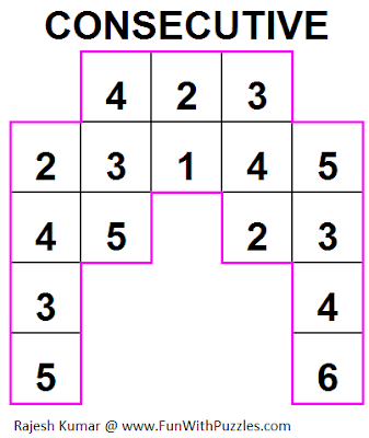 Consecutive (Mini Puzzles Series #15) Solution