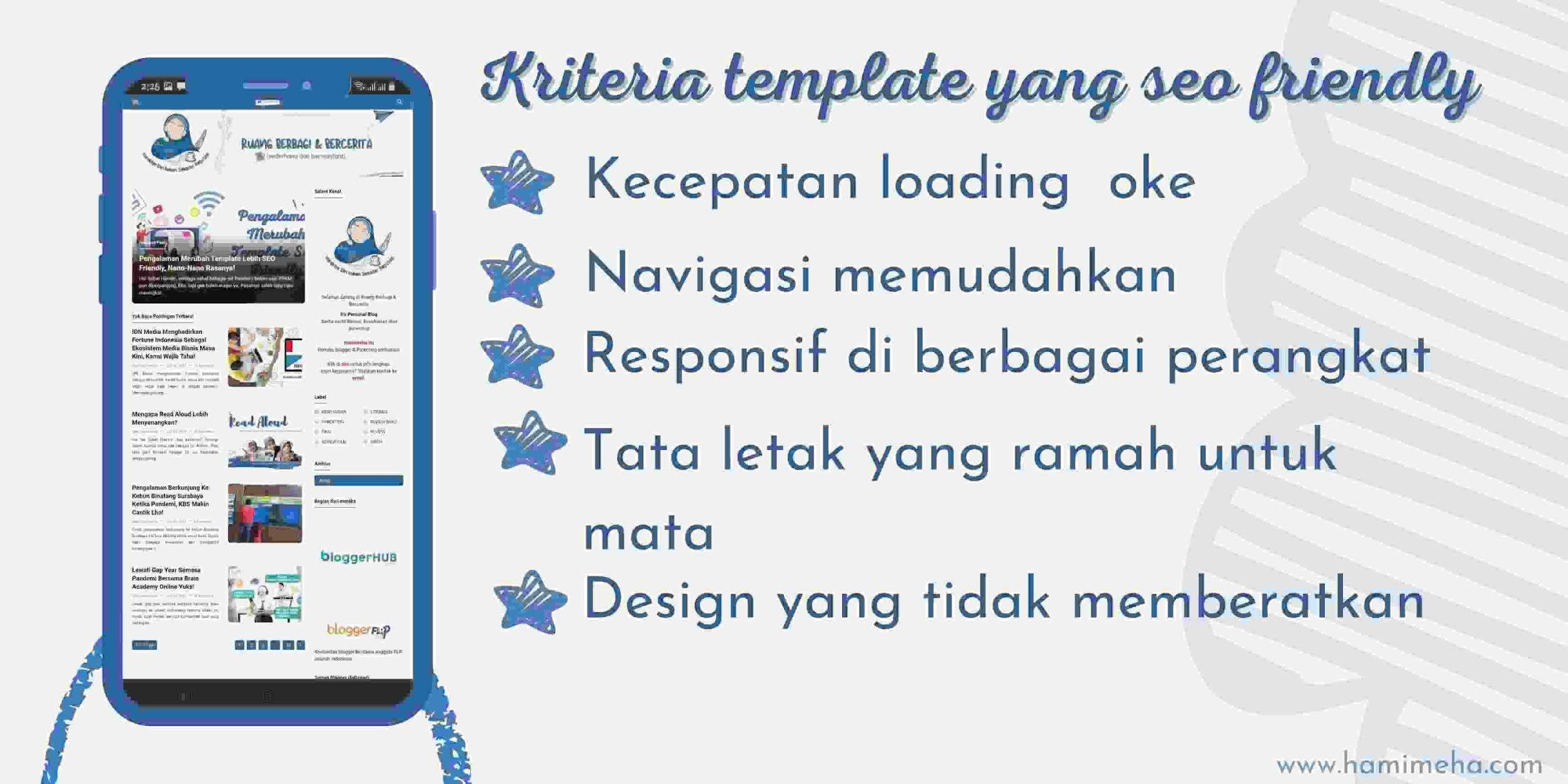 Kriteria template SEO friendly