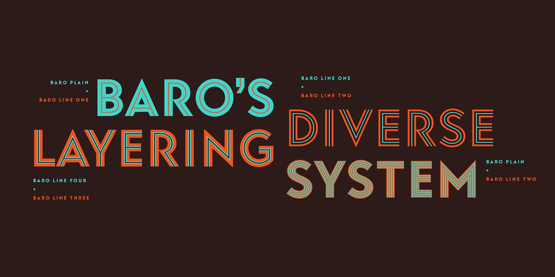 Sans-Serif: Baro Font Family