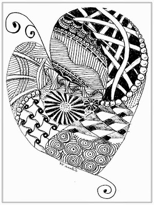 Heart Coloring Pages For Adult