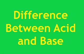 Acid and Base