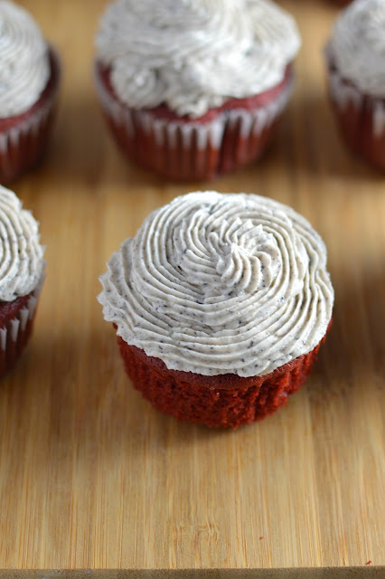Red Velvet Oreo Cupcakes with Oreo Frosting Recipe