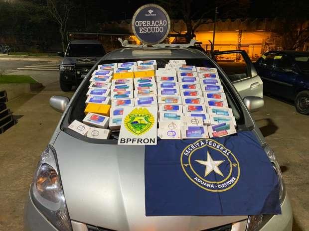 Operação Escudo apreende dois carros com celulares em fundo falso na última madrugada