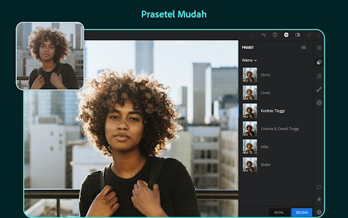 aplikasi edit foto android Adobe Photoshop Lightroom