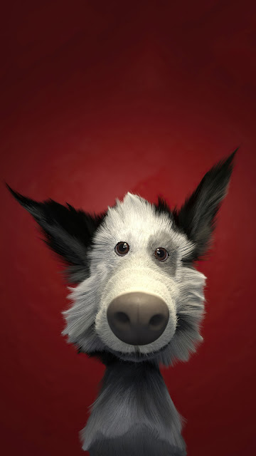 Funny 3D dog wallpaper Full HD