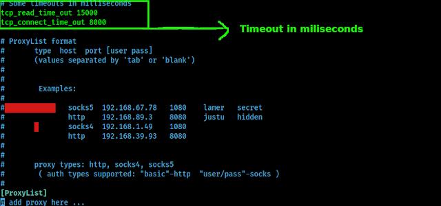 Configuración del tiempo de espera del proxy
