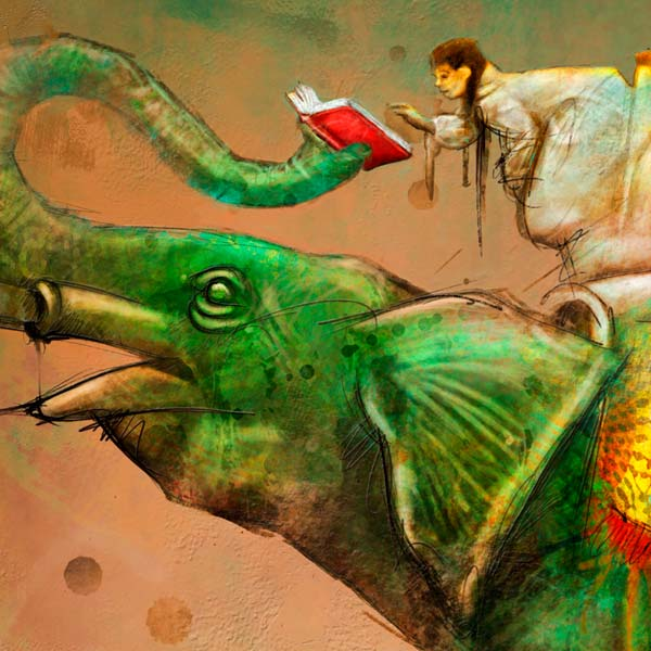 Ilustración, Los pesados de los libros para Libros y Letras