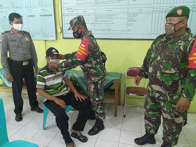 Koramil 22 Wonosari Melaksanakan Operasi Gabungan Penegakan Disiplin Protokol Kesehatan Covid-19