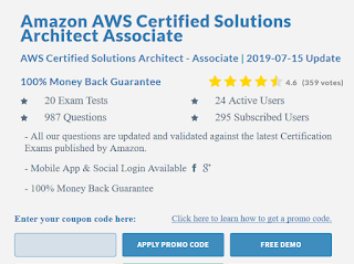 best AWS Solution Architect Associate Certification dumps