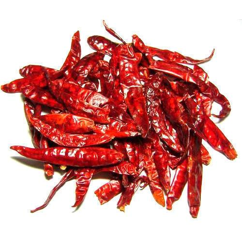Whole dried red chillies