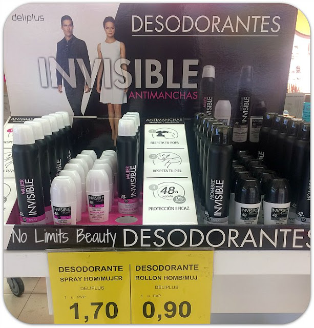 Desodorantes Invisibles Antimanchas de Deliplús-  Hombre y Mujer - Spray y Roll on