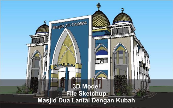 Download 3D Masjid Dua Lantai