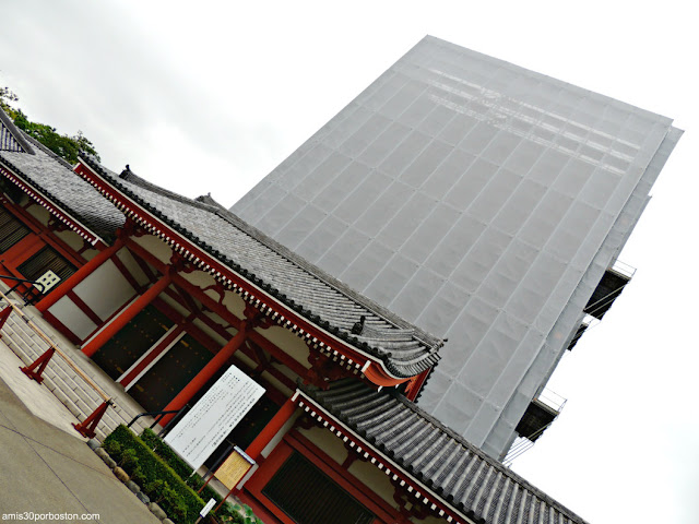 Pagoda Cubierta durante Restauración