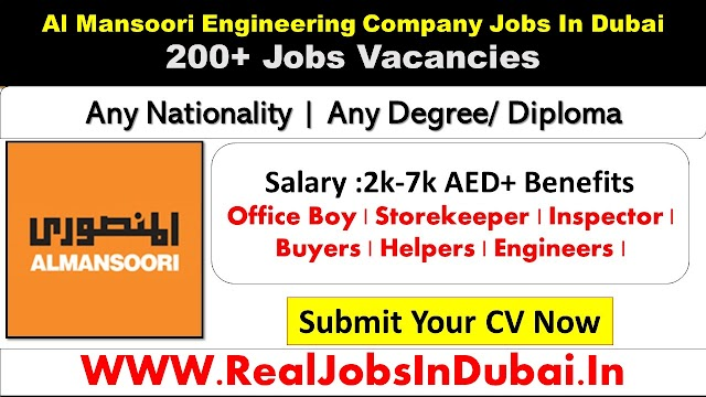 Al Mansoori Engineering Company Jobs In Dubai 2021