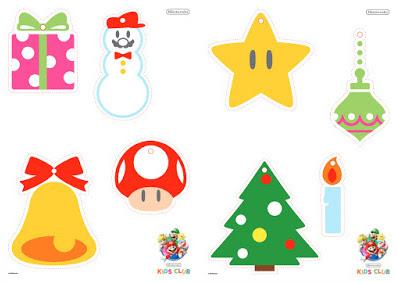 My Super Mario Boy Mario Christmas Themed Printable Decorations
