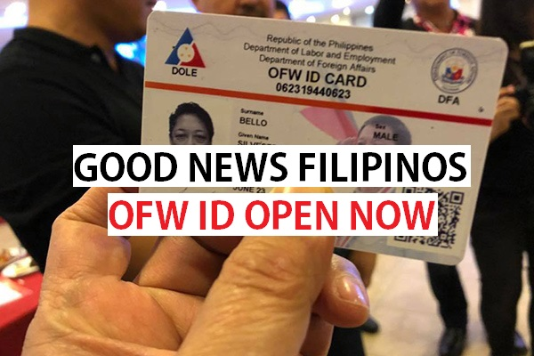 ID Card for Overseas Filipino Workers is started rolling out OFW ID carte is out for Filipinos across Globe