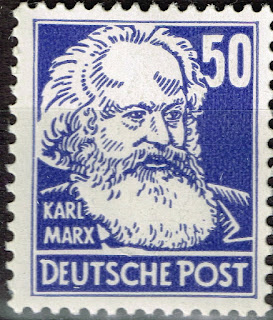 Germany Marxism Communist Leader Karl Marx stamp 1946