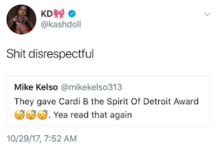 Kash Doll Cardi B Spirit Of Detroit Award