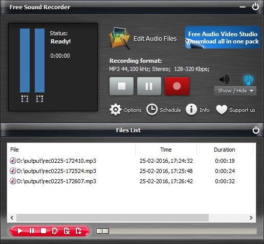 تحميل برنامج مسجل الصوت للكمبيوتر مجانا Free Sound Recorder