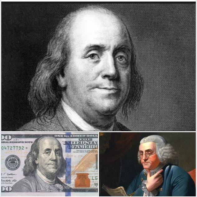 chân dung Benjamin Franklin