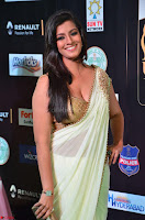 Varalakshmi in Cream Saree Sleeveless Backless Deep Neck Choli at IIFA Utsavam Awards March 2017 001.JPG