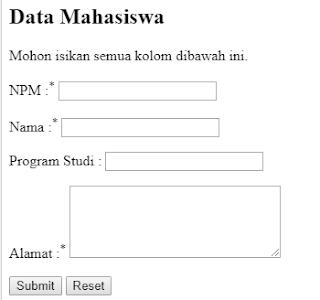PHP Series : Membuat Form di PHP