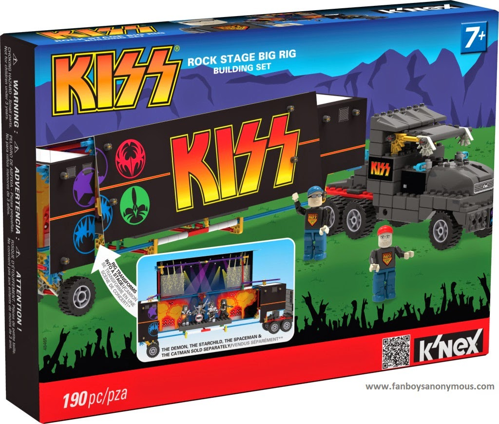 rock stage LEGO K'NEX blocks ultimate concert display