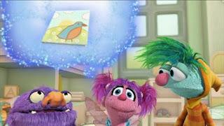 Abby's Flying Fairy School Fly Me to the Goon, Abby Cadabby, Blögg, Gonnigan, Mrs. Sparklenose, Letter B Day. Sesame Street Episode 4417 Grandparents Celebration season 44
