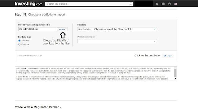 2 Step:-  NSE Website
