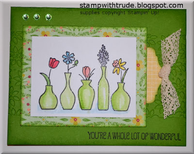 Vivid Vases, Paper Players, Stamp with Trude, Stampin' Up!, greeting card